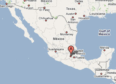 Mexico City Map Travel Map Vacations TravelsFindersCom Blank
