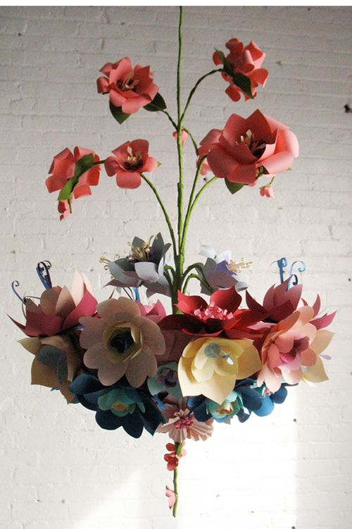 PaperFlowerChandelier