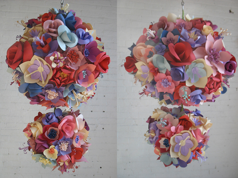 PaperFlowerBallChandelier