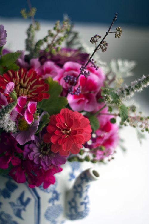 Flowersandteapot