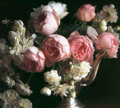 Rosessilvervase